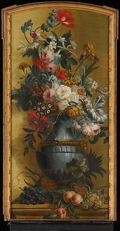 Flowers in a Blue Vase Willem van Leen Date: 18th century