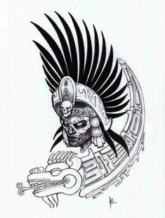 aztec warrior tattoo sketches is free HD wallpaper. Aztec Warrior Tattoo, Aztec Tribal Tattoos, Aztec Tattoo Designs, Warrior Tattoos, Aztec Art, Kunst Tattoos, Body Art Tattoos, Chicano Tattoos, Quetzalcoatl Tattoo