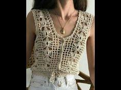 Bobble Crochet, Crochet Jacket, Crochet Blouse, Free Crochet, Crochet Summer Tops, Crochet Crop Top, Crochet Bikini, Crochet Coaster Pattern, Crochet Patterns