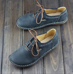 Handmade Shoes for Women Flat Shoes Retro Leather Shoes от HerHis