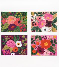 Love the colors, flower, and vintage vibe. Who wouldn't love to receive these note cards?