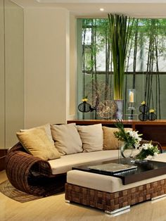 Home Decor Photos: Bamboo Accented Tropical Sitting Room from The Nest