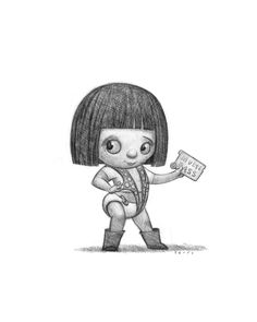 Lil Leeloo from fifth element #tiny #baby #cute #little #child #kid  by www.willterry.com - learn to illustrate children's books at www.svslearn.com
