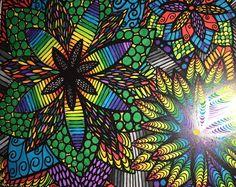 ColorIt Colorful Flowers Volume 1 Colorist: Michelle Phillips #adultcoloring #coloringforadults #adultcoloringpages #flowers