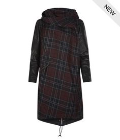 AllSaints Check Maze Parka | Womens Coats