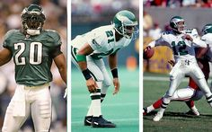Philadelphia Eagles S Brian Dawkins, CB Eric Allen & QB Randall Cunningham