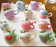 "Strawberry ""Tea Pots"" - photo only."