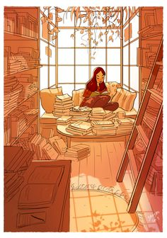 37 Illustrations that capture the beauty of living alone. person Illustrator Perfectly Captures The Happiness Of Living Alone In 37 Illustrations Joy Of Living, Living Alone, Christopher Mccandless, Love Book, Introvert, Cute Art, Art Girl, Book Worms, Book Lovers