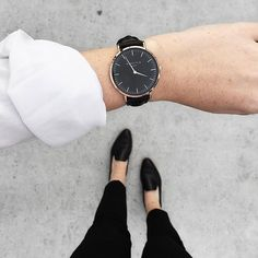 Black Bowery women's watch - black leather band   ROSEFIELD Watches Women's Jewelry - http://amzn.to/2j8unq8