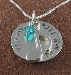 Music is My Life - 8th Note Pendant, via Etsy.