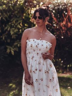 The H&M Wildflower Collection and other high street favourite budget spring dresses Spring Dresses, Dress Collection, Wild Flowers, 50th, Strapless Dress, Budget, Street, How To Wear, Fashion