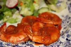 Sriracha Spicy Baked Jumbo Shrimp - shrimp marinated in a spicy sriracha sauce and baked.