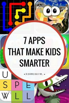 7 awesome apps that will make your kid smarter Tired of the bad attitude after your kids get too much screen time? Get them set up with the best educational apps for phone and tablet. Plus, these apps are so fun! Educational Apps For Kids, Learning Games For Kids, Learning Activities, Activities For Kids, Best Learning Apps, Education Games For Kids, Computer Games For Kids, Educational Websites For Kids, Student Games
