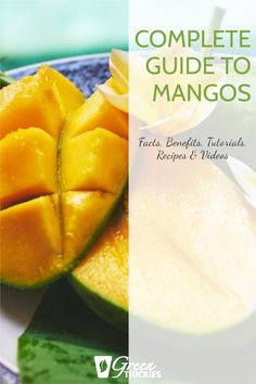 If you love mangos, you're in for a treat. I share fascinating mango facts, benefits, tutorials, recipes and videos in this epic ultimate guide to mangos. Protein Fruit Smoothie, Fruit Smoothie Recipes, Fruit Drinks, Smoothie Diet, Fruit Recipes, Whole Food Recipes, Vegan Recipes, Fruit Facts, Fruit List