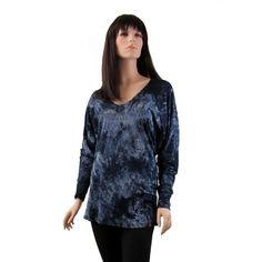 Anm Dark Blue Tunic Top Tie Dye Mini Dress Shirt Woman's Fashion Clothing | eBay