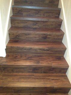 Luxury Vinyl Wood Planks On Stairs Lvt Vinylwood You