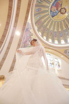 The bride at the Greek Orthodox Cathedral. red gallery photography,greek orthodox cathedral downtown columbus, ohio wedding, ohio wedding photographer, columbus ohio wedding