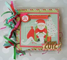 DCWV's Jolly Whimsy Stack and a Clear Scraps 8×8 Regular Acrylic Album.