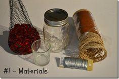 mason jar mayhem - It All Started With Paint Mason Jar Projects, Fall Candles, Decorated Jars, Beading Tutorials, Design Crafts, Fall Recipes, Glass Beads, Mason Jars, Candle Holders
