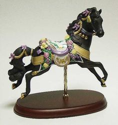 1994 Midnight Charger. Lenox Carousel Horse figurine.