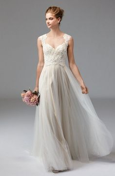 Sweetheart A-Line Wedding Dress  with Natural Waist in Lace. Bridal Gown Style Number:33473588