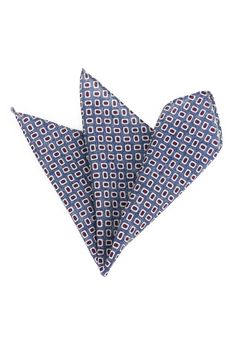 Navy Blue Wool Pocket Square - $14.90