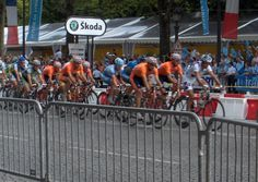 Tour de France: Final Stage. The final of the Tour de France ends in Paris, and it is difficult to imagine a finer finish to any race. As the champagne flows on the winners podium, bottles begin popping all over the city and the celebration continues well into the night.