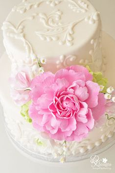 Custom Cake Flowers - Peony, Ranunculus, Hydrangea, Sweet Pea and Lily of the Valley