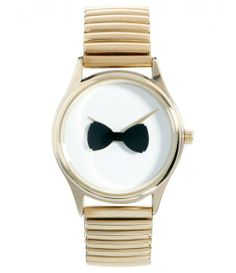 Rotating Bow Tie Watch