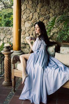 Anna Sammarone wrap day gown