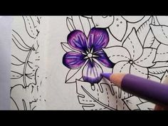 How to color a flower Magical Jungle by Johanna Basford is part of Color pencil drawing - royal Easy Doodles Drawings, Unique Drawings, Art Drawings Beautiful, Colored Pencil Tutorial, Colored Pencil Techniques, Coloring Books, Coloring Pages, Coloring Tips, Adult Coloring