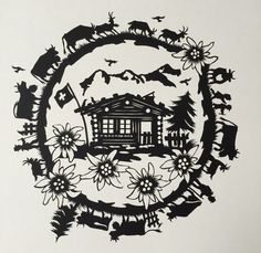 Bild vergrössern Vinyl Paper, Paper Art, Paper Crafts, Wood Carving Patterns, Painting Patterns, Wood Carving For Beginners, Polish Folk Art, Logo Creation, Image Fun