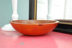 Vintage Wooden Primitive Dough Bowl by vintagebitsandpieces
