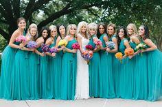 Modelos de vestidos para madrinhas de casamento azul tiffany