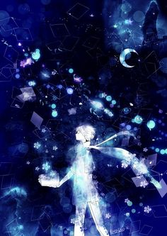 Anime Art Flowers and I by Koto Koto Fantasy Kunst, Fantasy Art, Anime Galaxy, Anime Kunst, Art Graphique, Anime Artwork, Anime Scenery, Galaxy Wallpaper, Pretty Art