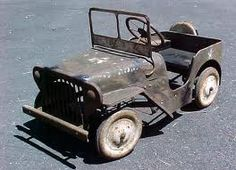Vintage 'Army Jeep' Pedal Car..