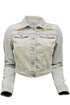 Distressed Cropped Jacket