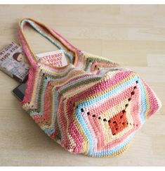 "Crochet beach bag Crochet market bag multicolor Crochet bag ""Crochet Patterns Bag This wonderful crochet bag is the perfect accessory for your summer outfi Crochet Beach Bags, Bag Crochet, Crochet Market Bag, Crochet Shell Stitch, Crochet Handbags, Crochet Purses, Bag Pattern Free, Bag Patterns To Sew, Pattern Ideas"