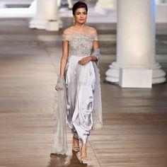 Bridal Lehenga Choli, Saree Wedding, Ethnic Fashion, Asian Fashion, Modern Fashion, Grey Evening Dresses, Formal Dresses, Indian Dresses, Indian Outfits