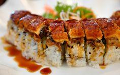 Barbequed eel sushi