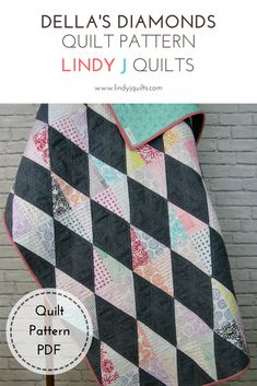Della's Diamonds Quilt Pattern Size Ranges from Mini to