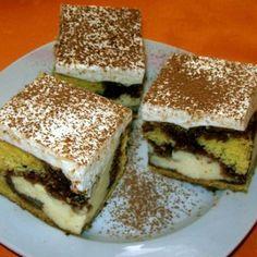 Tejfölös-pudingos kocka Recept képpel - Mindmegette.hu - Receptek Sweet Cookies, Cake Cookies, Hungarian Recipes, Winter Food, Nutella, Tiramisu, Cake Recipes, Sandwiches, Muffin
