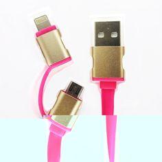 Cable 2 en 1 Para iPhone y Samsung modelo V-1179 -  El cable carga fácilmente en cualquier puerto USB, ya sea de un PC o utilizando de un adaptador cargador USB para las tomas de pared o de coche. Al conectarlo a un Mac o PC además de cargar su Smartphone, iPhone, iPad o iPod podrá sincronizar los datos o pasarlos de su dispositivo al ord... - http://www.vamav.es/producto/cable-2-en-1-para-iphone-y-samsung-modelo-v-1179/
