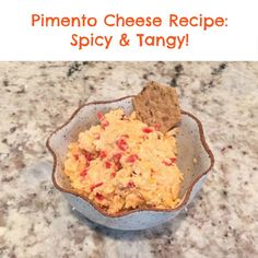 Pimento Cheese Recipe- a spicy and tangy dip- also great for a sandwich or on a burger! Vegetarian!