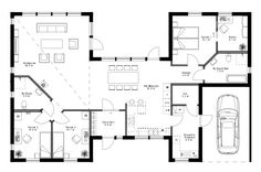 Dream House Plans, House Floor Plans, Sims 4, Planer, Villa, New Homes, Construction, Flooring, How To Plan