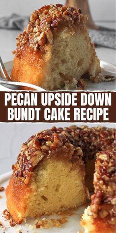 Pecan Desserts, Pecan Recipes, Cake Mix Recipes, Pound Cake Recipes, Sweet Recipes, Delicious Desserts, Dessert Recipes, Cooking Recipes, Mini Bunt Cake Recipes