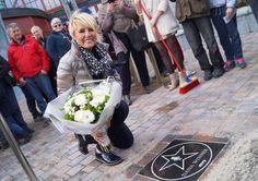 Dana Winner onthult ster op Walk of Fame in Plopsaland De Panne