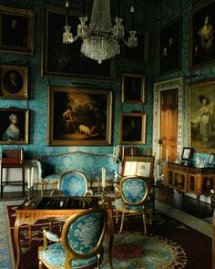 Dreamy Sophistication. The Turquoise drawing room at Castle Howard                                                                                                                                                     More