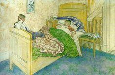 Carl Larsson:  Swedish Realist Painter, 1853-1919 Swedish painter, illustrator and printmaker.