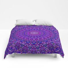 Bedroom Purple Walls Comforter 55 Ideas For 2019 Cosy Bedroom, Apartment Bedroom Decor, Bedroom Green, Mandala Comforter, Blue Comforter, Bedding, Bedroom Curtains With Blinds, Pink Curtains, Bedroom Color Schemes